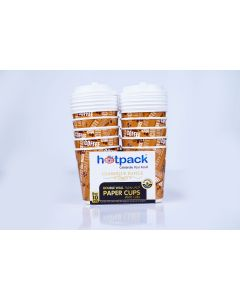 HOTPACK PAPER DOUBLE WALL CUP 8OZ 10PCS + LID