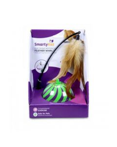 """SmartyKat® Feather Whirl™ Electronic Motion Ball Cat Toy """