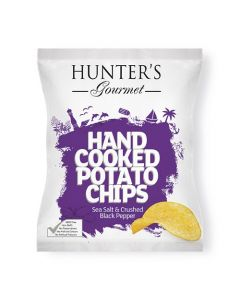 Hand Cooked Potato Chips Sea Salt & Crushed Black Pepper 125 GM