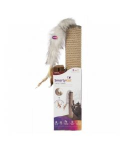 """SmartyKat® Tweet Tower™ Jute Rope Cat Scratcher Post With Electronic Sound """