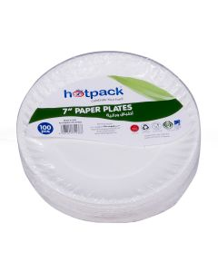 "Hotpack- paper plate 7""  - 100pcs"