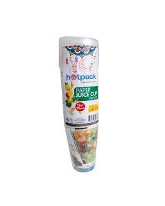 Hotpack-paper juice cup 12-oz +lid 25pcs