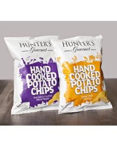 Hunter's Gourmet Hand cooked Potato Chips 125gM x 2