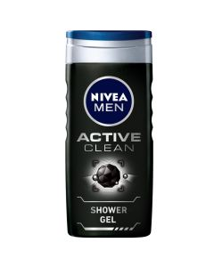NIVEA MEN SHOWER GEL ACTIVE CLEAN CHARCOAL 250ML