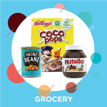 Healthy evening snacks choco pops, nutella and heinz beanz shop in Dubai